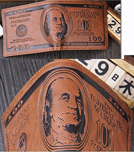 Leather Wallet Credit Purse Coin Dollar Bill Money Funny Men Bifold For Pockets Card xaqEBAEwC