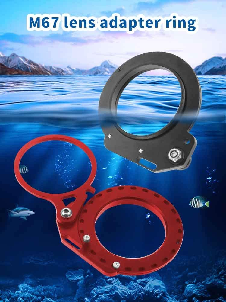 XT-XINTE Arm Extension Mount Close-up Lens Mount Lens Adapter Ring for 67mm Interface Waterproof case Red