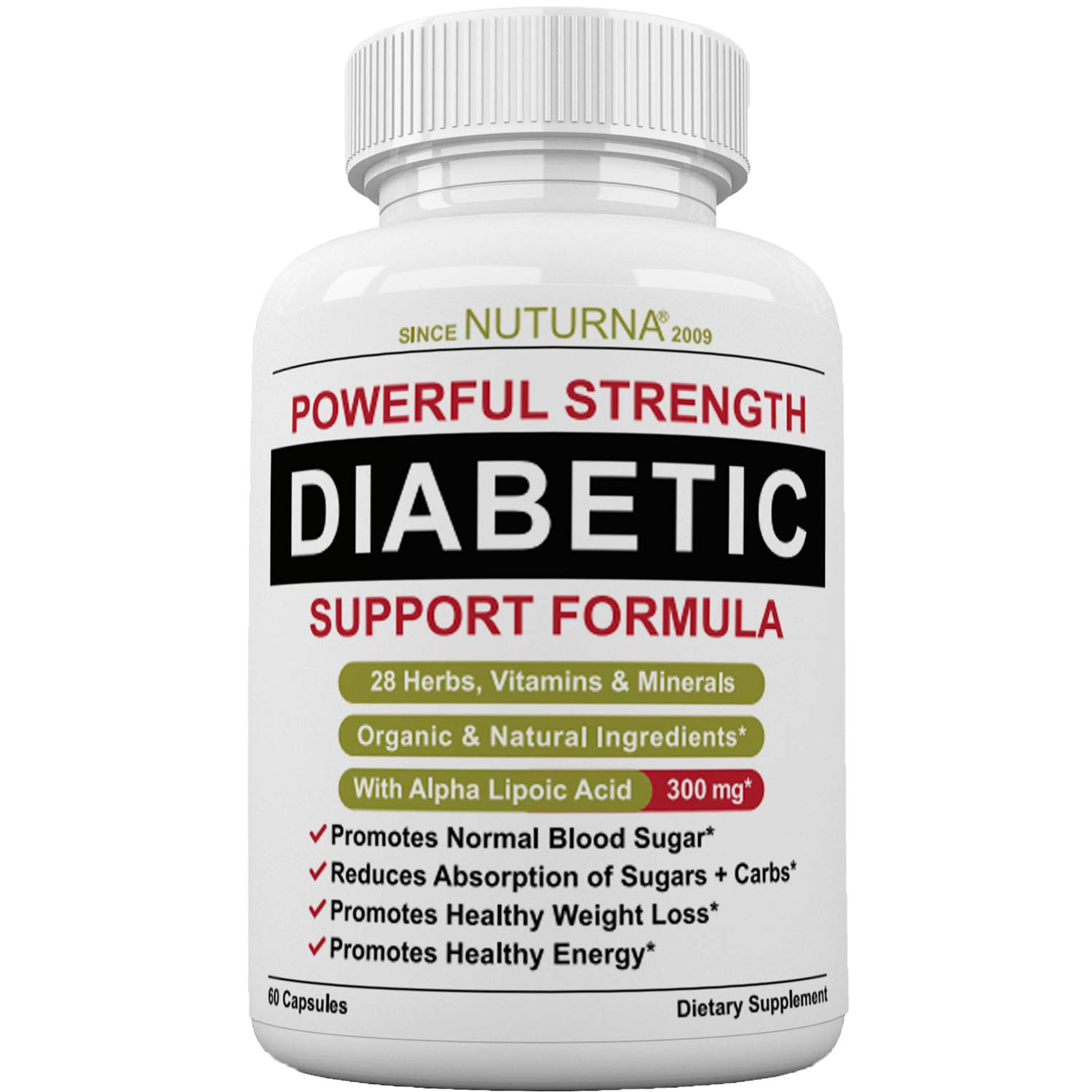 Diabetic Support Formula - 28 VITAMINS Minerals & Herb Supplement For Blood  Sugar Support - Healthy