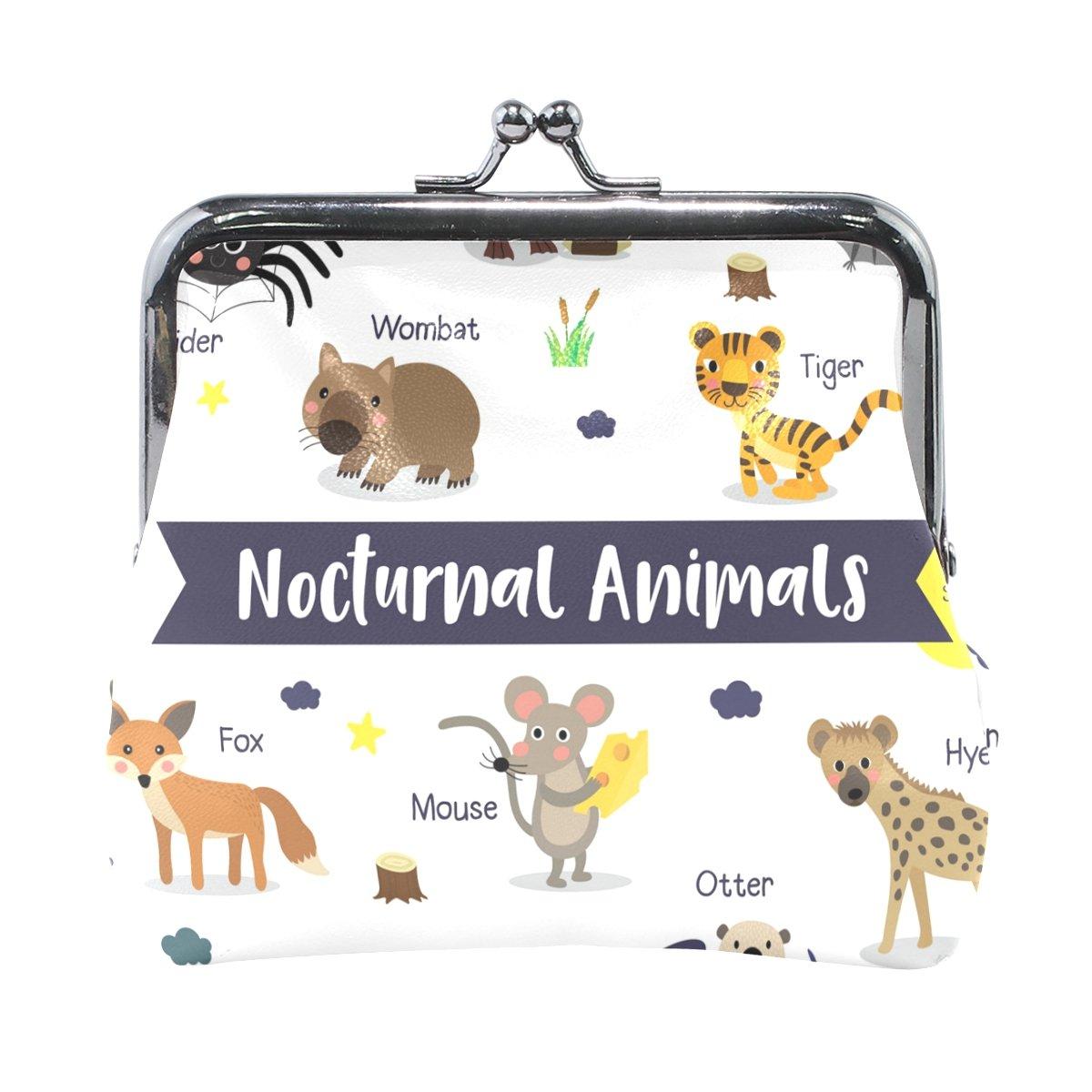 Coin Purse Cartoon Animals Wallet Buckle Clutch Handbag For Women Girls Gift