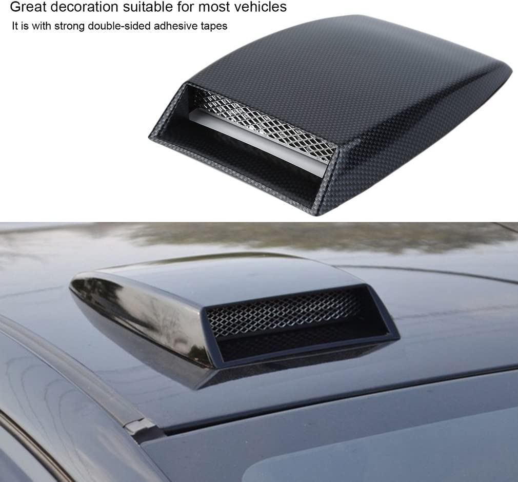 3 Color car Styling Universal Decorative Air Flow Intake Scoop Turbo Bonnet Vent Cover Hood Silver//White//Black car Styling