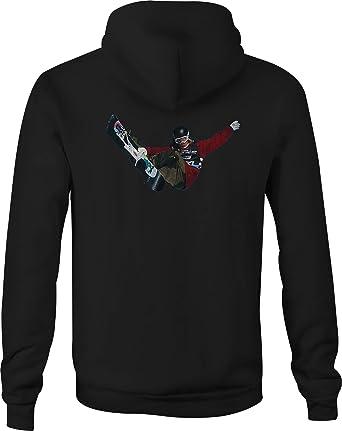 Zip Up Hoodie Snowboarding Tricks Hooded Sweatshirt for Men