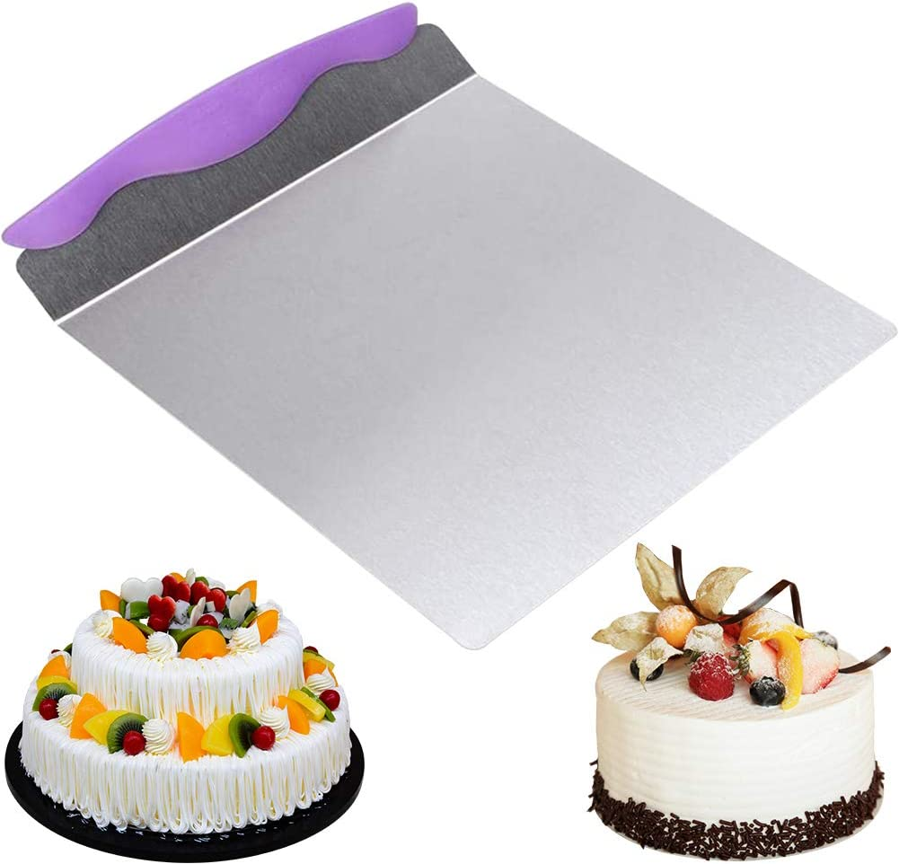 24.5 x 20.3 cm Viola BETOY Cucina Torta Pala in Acciaio Inox per Biscotti Strumenti di Cottura Torta trasferimento Pala Dolci e Torte Fatte in Casa con Impugnatura Pane Pizza