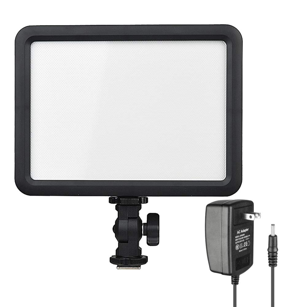 Godox LEDP120C CRI95 Ultra-Thin Dimmable 3300K-5600K LED Video Light Panel On Camera Continuous Lighting Compatible for DSLR Cameras,Camcorders Studio Photography,Video Shooting with AC Power Adapter by Godox