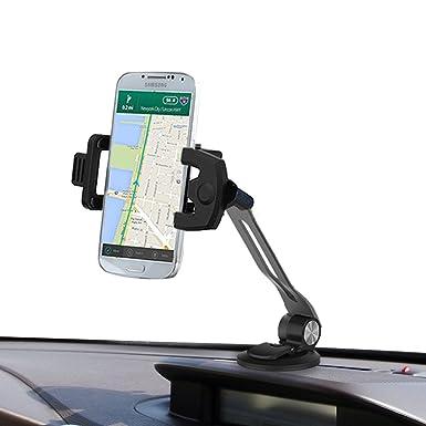 iwonderful 360 ° rotación de succión Disco Soporte Universal para escritorio telescópico Smartphone, coche parabrisas