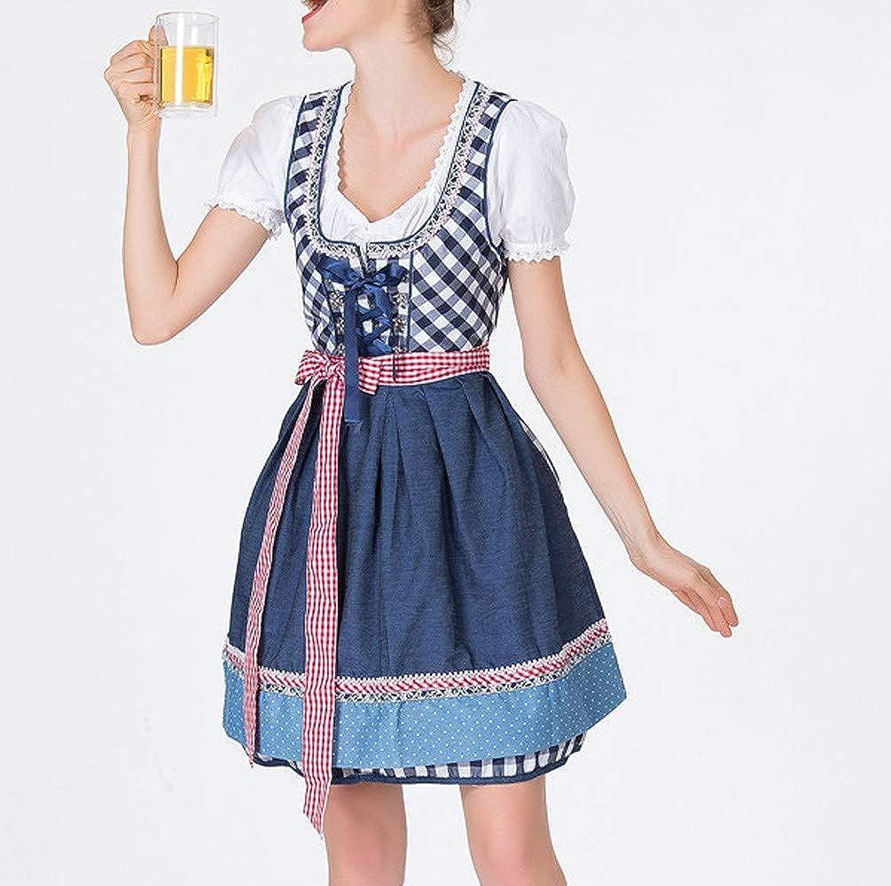 Luckycat Delantal del Vendaje de Las Mujeres Trajes de Oktoberfest bávaro Vestido de Dirndl de la Camarera: Amazon.es: Ropa y accesorios