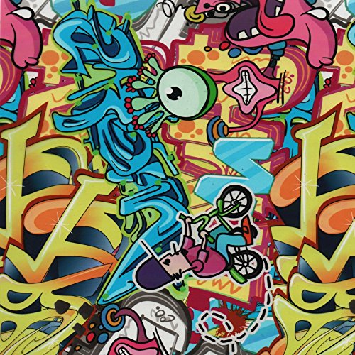 Southern Hydrographics Hydro Dipping Film - Graffiti Bomb 2 - Printing Film 1m - High Resolution Graphics - Used For Guns, Yeti Cups, Auto Parts, And Many More - Easy To Use - Requires Hydro Activator ()