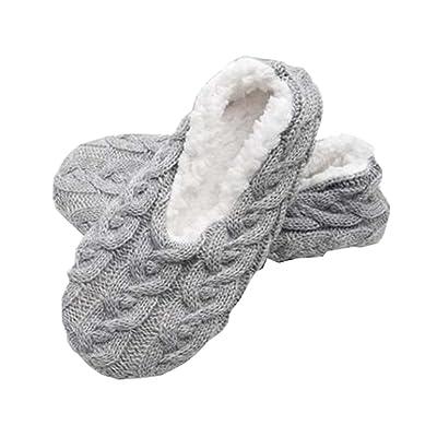 1 Paire Femmes Chaud Chaud Tricot Non Slip Slipper Hiver Étage Maison Chaussettes, Gary