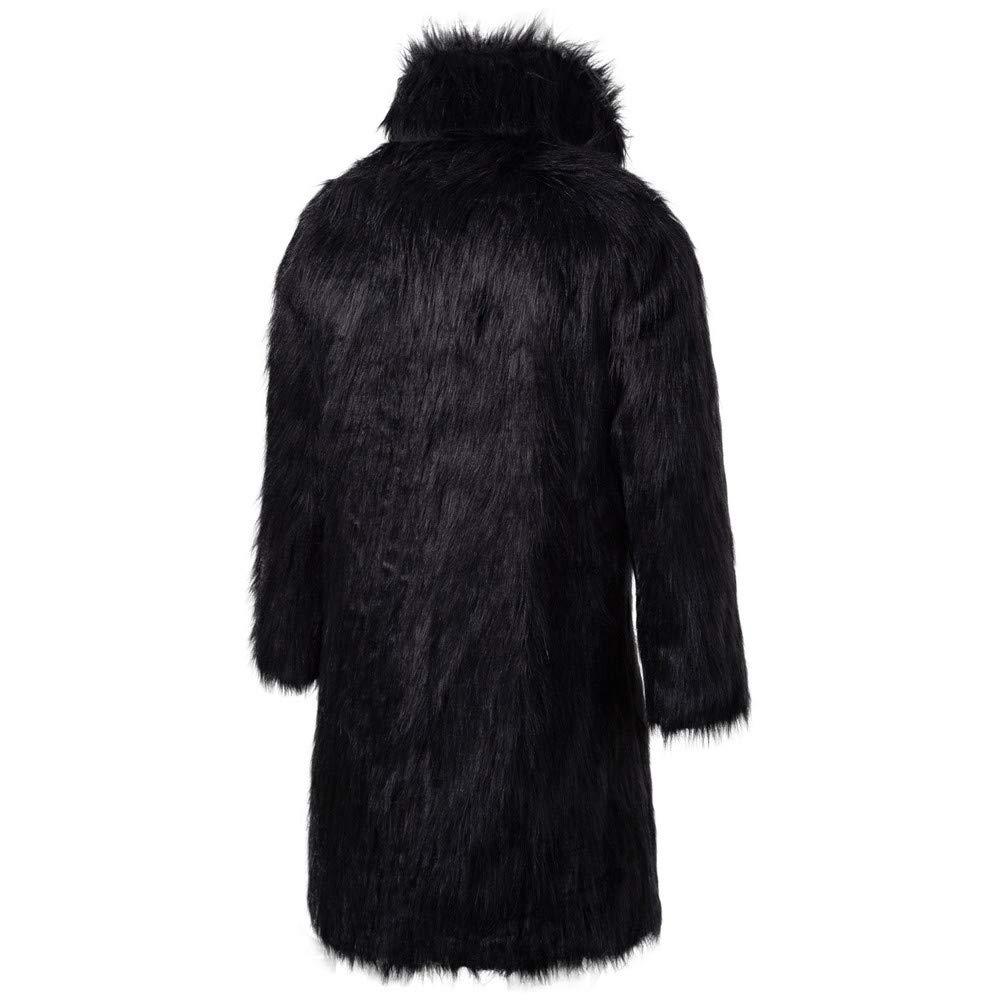 Mens Winter Thick Coat Men Jackets,Dartphew Cool Faux Fur Outwear Cardigan