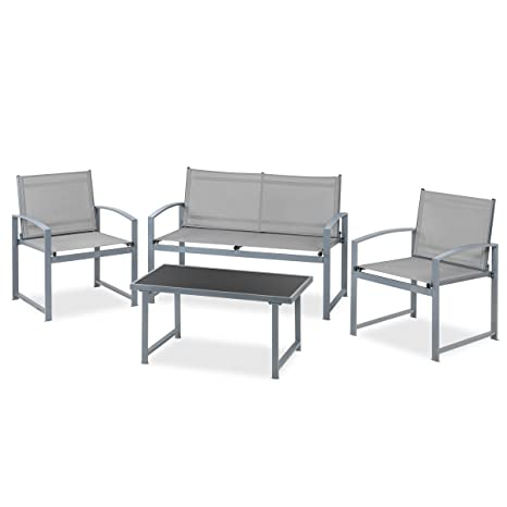 Mc Haus Parma Set De Muebles Jardin Terraza, Gris: Amazon.es ...