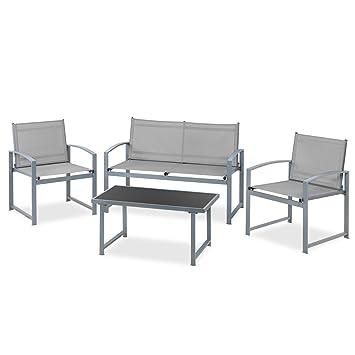 Mc Haus EXM4323G Set de Muebles Jardin terraza 4pc Sofa+ ...