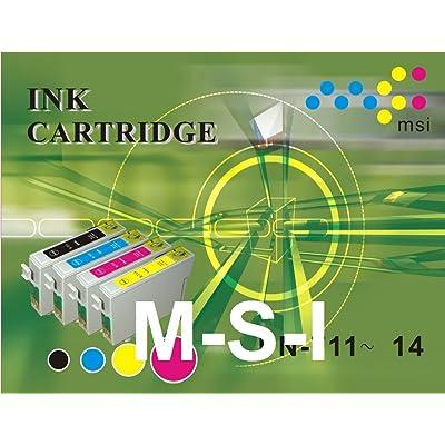 (4+12) cartouches d'encre non-original type T0711 T0712 T0713 T0714 T0715 Epson DX8450 SX218 BX600... (4noire+4cyan+4magenta+4jaune)