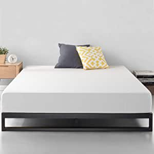 Zinus Trisha 18cm Steel Double Bed Frame | Strong Metal Frame, Quality Timber Slats, Easy Assembly, 5 Year Warranty - Black