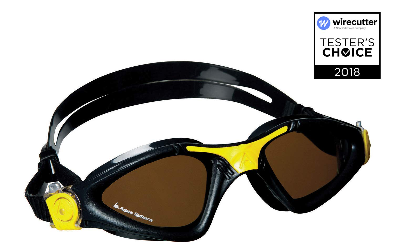 Aqua Sphere Kayenne Swim Goggles with Polarized Lens (Black/Yellow)