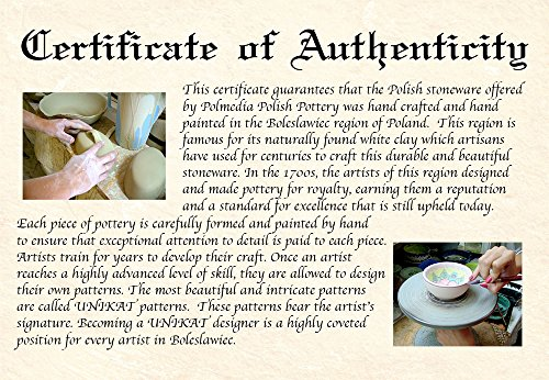 Polish Pottery 9¼-inch Dish with Cover (Country Meadow Theme) + Certificate of Authenticity by Polmedia Polish Pottery (Image #4)