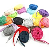 NUOLUX Shoe Laces for Sports Shoes Boots Sneakers Skates Assorted Colors 12 pcs