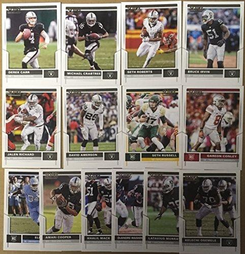 2017 Panini Score Football Oakland Raiders Team Set 14 Cards W/Rookies