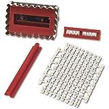 Städter 966803 Brigitte Set stampi per tagliare la pasta dei biscotti con timbro lettere