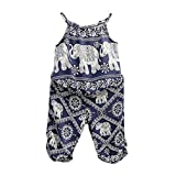 2Pcs/Set Kids Baby Girls Elephant Jumpsuit