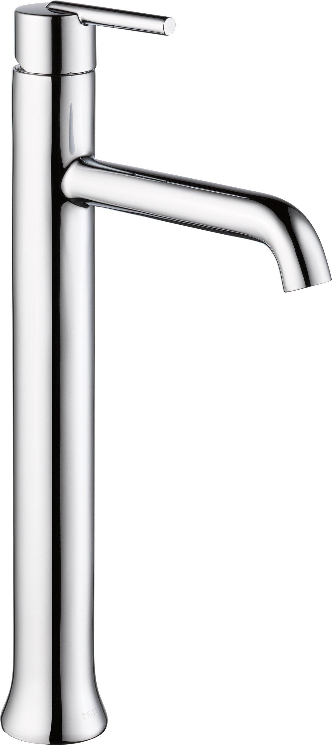 Delta Faucet 759-DST Trinsic Single Handle Single Hole Bathroom Faucet for Vessel Sinks, Chrome