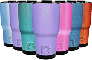 Lavender Glitter 30 oz Stainless Steel Tumbler with Lid Travel Mug Gift Insulated Cup Double Wall Vacuum Water Bottle