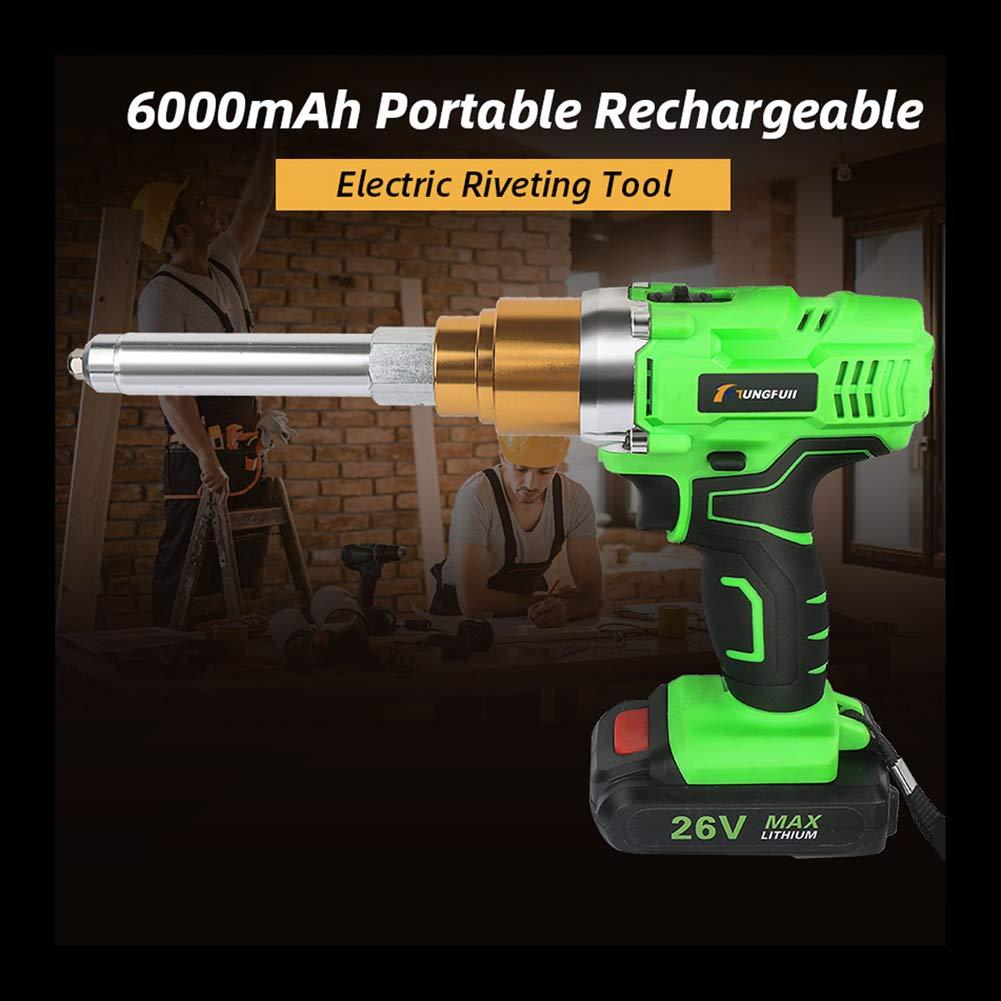 26V remachadora pistola sin cuerda portable el/éctrico recargable del remache pistola remachadora 2.4mm-5.0mm del remache