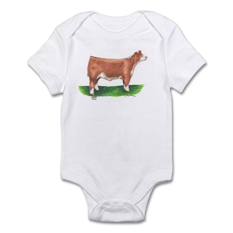 Hereford Steer Christmas Baby Bodysuit for Newborn Ballkleid
