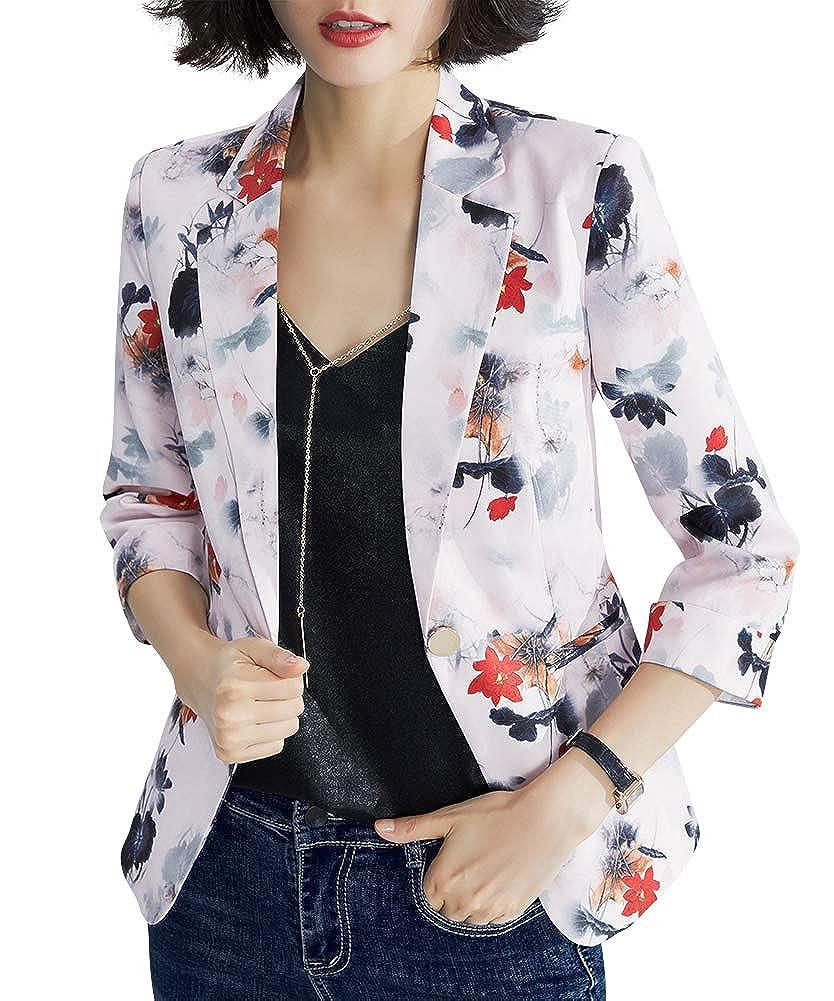 Womens Office Business Work Blazer Sports Jacket Casual Printing Blazer for Women