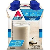 Atkins Advantage Shakes, Vanilla, 15g Protein, 1g Sugar, 4 Count