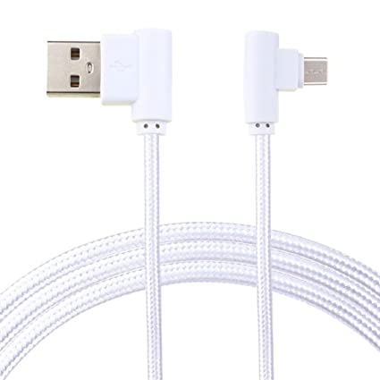 Ouneed ® Nylon trenzado micro USB 90 grado ángulo recto 2A ...