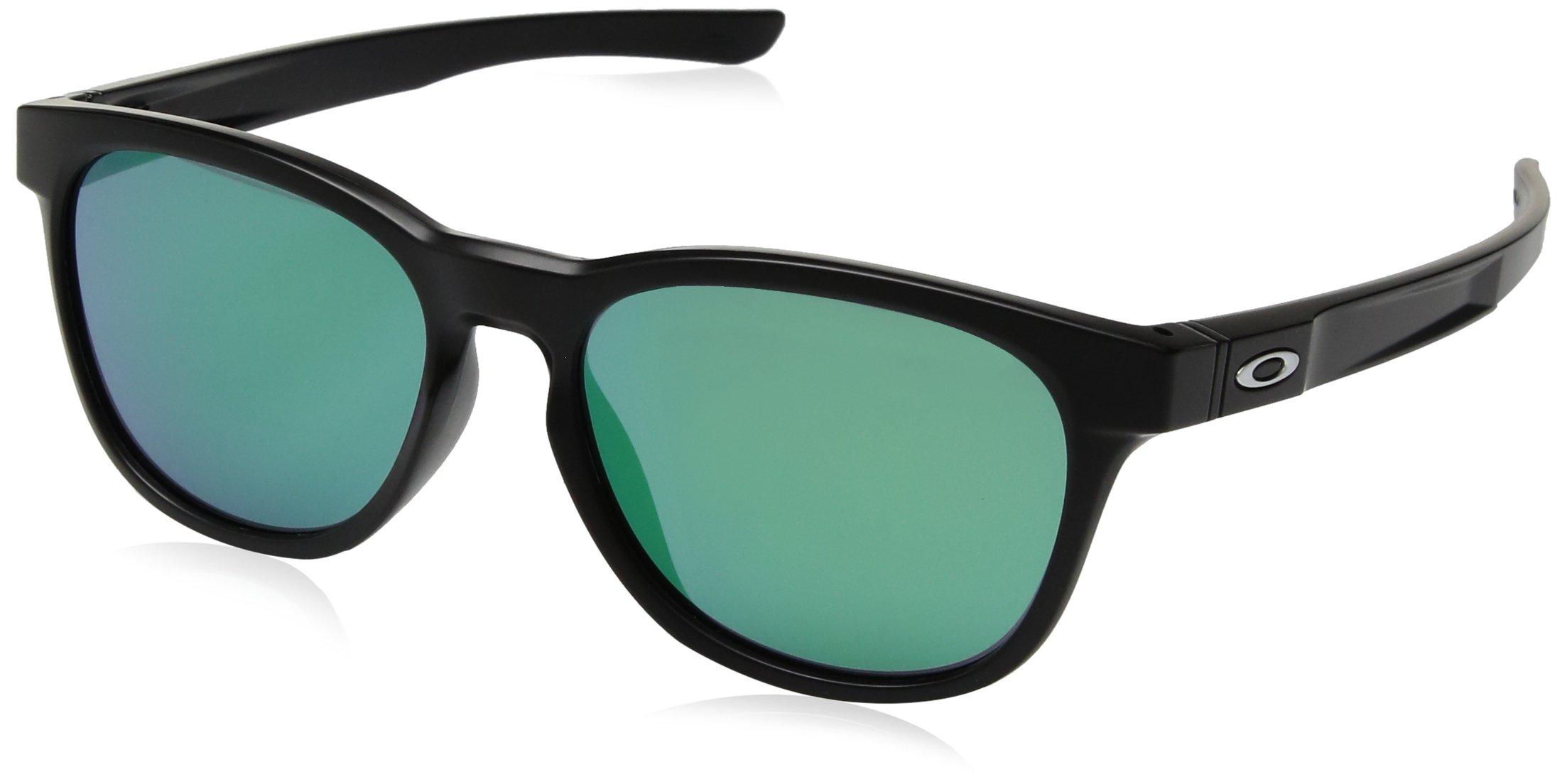 Oakley Stringer Sunglasses Matte Black/Jade