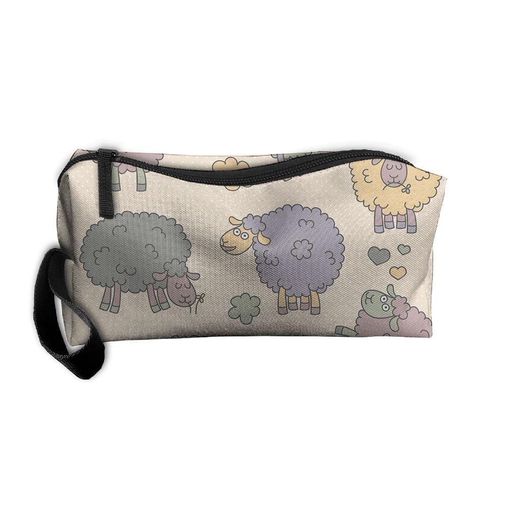 ec7b50cb262e well-wreapped Vcxgvbvc Cosmetic Bag Sponge Sheep Travel Makeup Bag ...