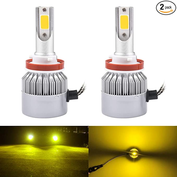 LED 30W 899 H27 Orange Amber Two Bulbs Fog Light Replacement Upgrade Lamp
