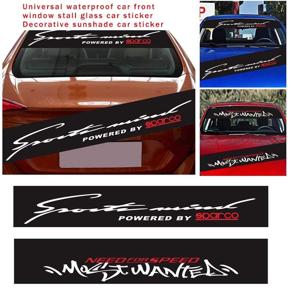 Auto Adesivo Decorativo waterfail 1pc Universale Impermeabile Auto Anteriore Finestra Parasole Parabrezza Decalcomania