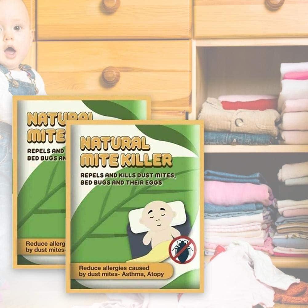 Box Bolsas Herbales Naturales 6PCS Almohadilla Exterminadora De /Ácaros Segura Y No T/óxica Eliminaci/ón Natural /Ácarida Killer Herbal Para Uso En El Hogar La Sala Estar Del Dormitorio Mite Killer