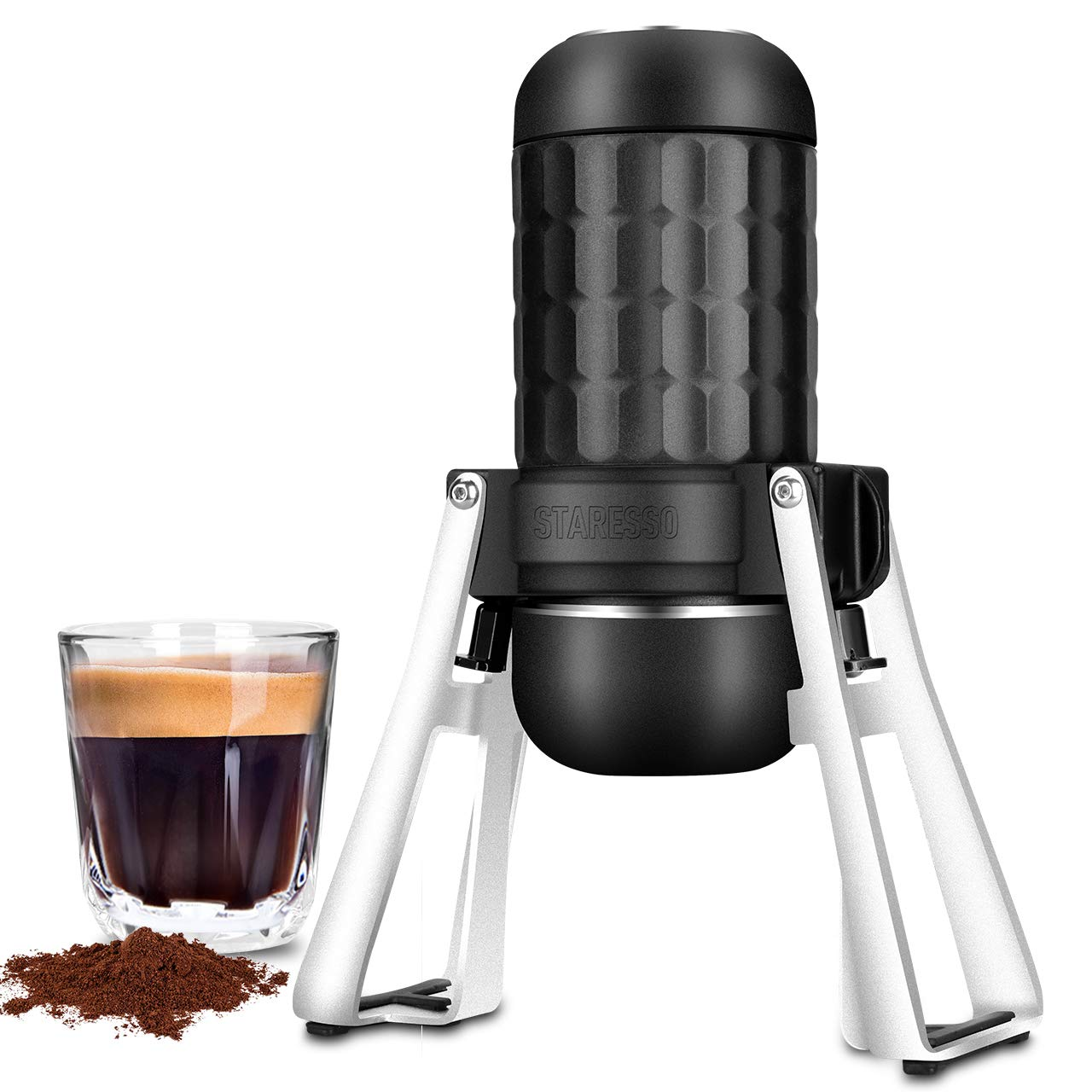STARESSO Portable Espresso Maker, 3rd Gen Upgraded Manual Espresso Machine,【Professional 15~20 Bar】【Two Shots at One Time】【Food Grade Material】Cool Compact for Travel Camping & Kitchen Office by STARESSO