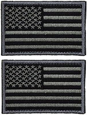 Ultnice Parche de bandera de Estados Unidos, táctico, autoadhesivo, Emblema de uniforme Militar estadounidense, para remiendos, Paquete de 2: Amazon.es: Hogar