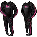 090b48ee052d0 2Fit Heavy Duty Pink Sweat Suit Sauna Suit Exercise Gym Fitness Anti-Rip  Ladies TrackSuit