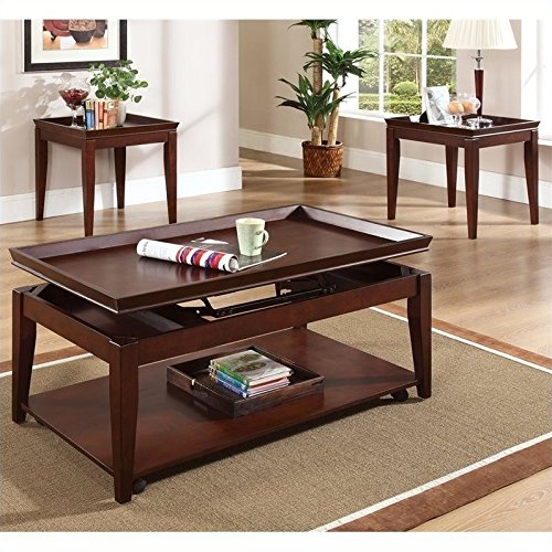 Steve Silver Company Clemens Set, 3 - Sofa Cherry Table 3 Piece