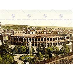 VINTAGE PHOTOGRAPHY VERONA ARENA STADIUM ROMAN RUINS ITALY 30x40 cms ART POSTER PRINT PICTURE CC7035