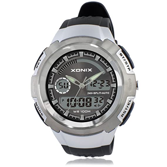 Hombres de relojes/deportes al aire libre, escalada de montaña, resistente al agua de los relojes digitales/LED, estudiante multifuncional Watch-d: ...