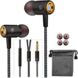 Wired Headphones,Earbuds Waterproof Sports Earphones, Stereo Sound Headphones Headsets with Built-in Mic Compatible with Phone 6/6s Plus/5s/SE, Galaxy, Android Smartphones, Tablets