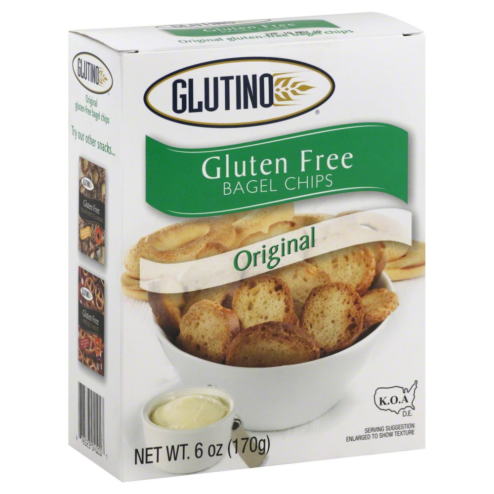 Glutino Original Bagel Chips Gluten Free, 6-Ounce (Pack of 6) ( Value Bulk Multi-pack)