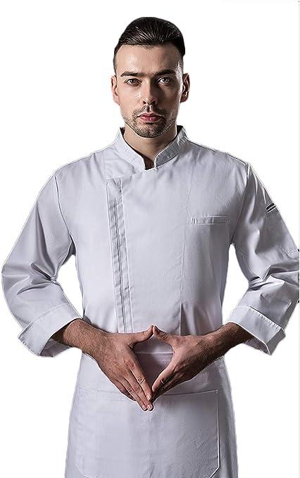 WYCDA Casaca Cocina Uniforme Bar Restaurante de Chef Cocinero ...