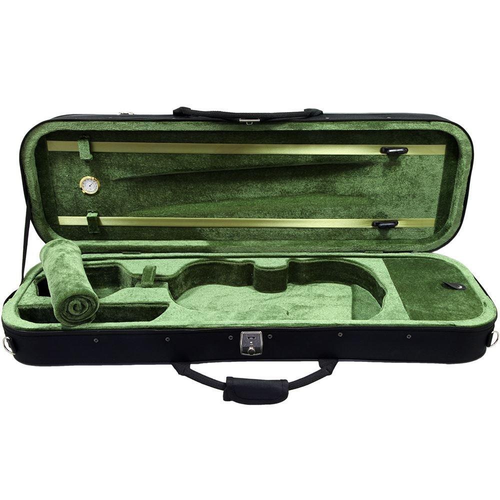SKY 3/4 Size Professional Oblong Shape Lightweight Violin Hard Case with Hygrometer (3/4)