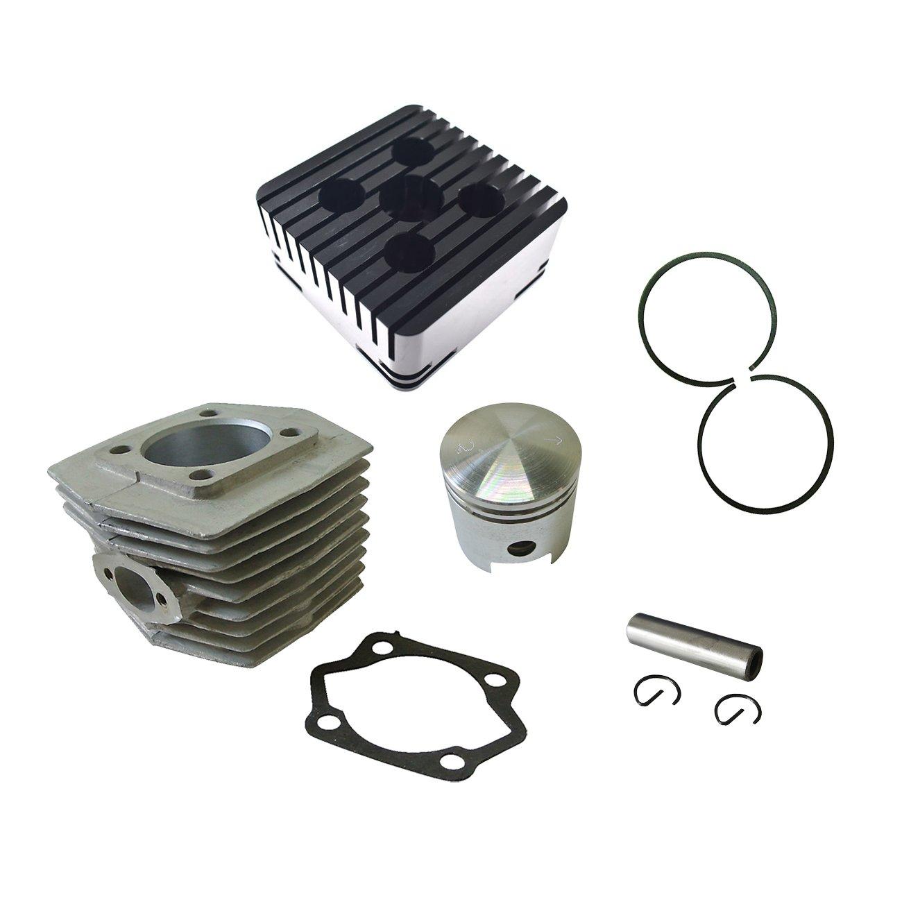 Cylinder Head/&Cylinder/&Piston Fits 66cc 80cc 2 Stroke Engine Motorized Bicycle