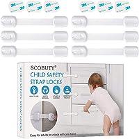 Kinderveiligheidssloten,Babyveiligheidskast riemsloten,Baby Proofing Cabinet Sloten,Baby Proof Double Lock System voor…