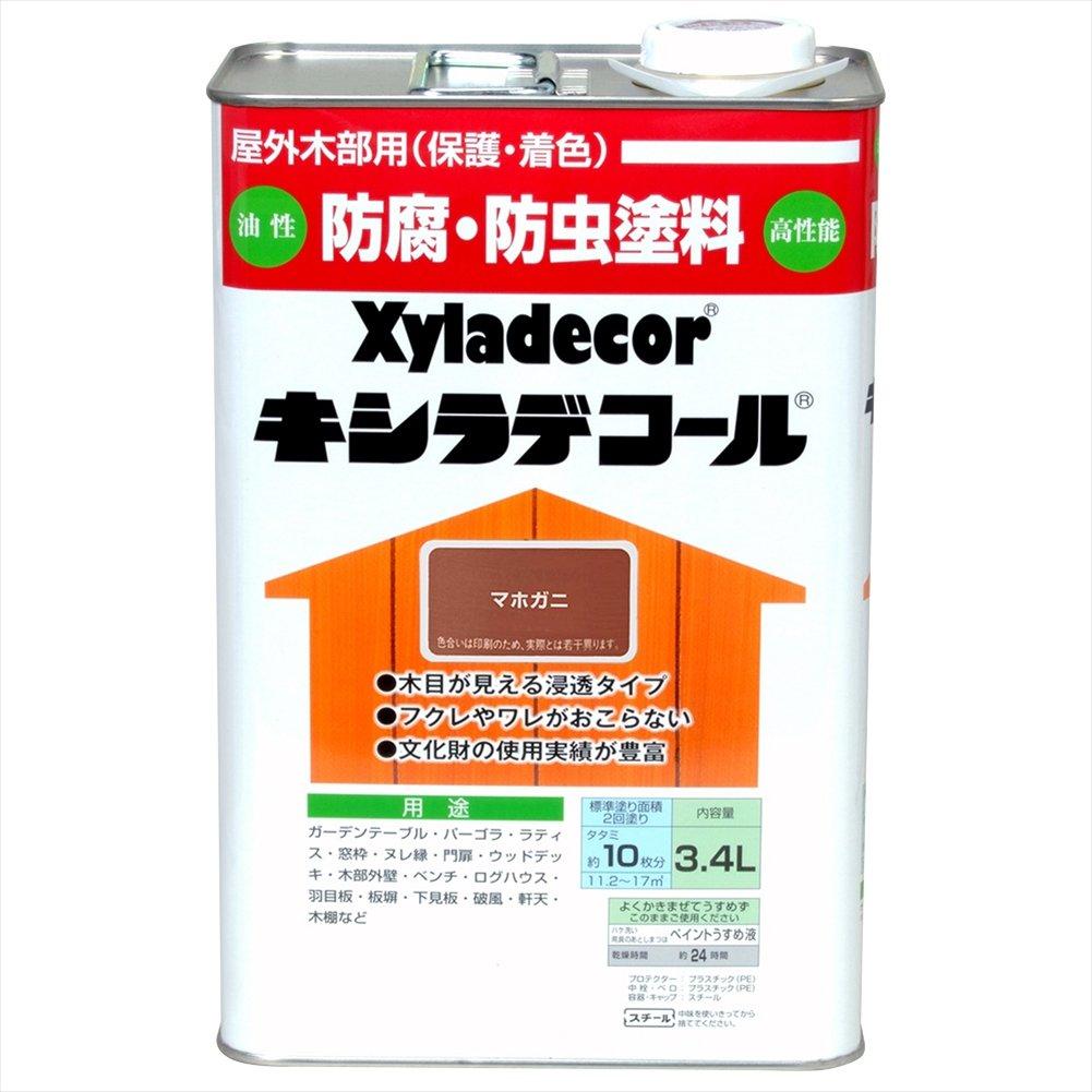 大阪ガスケミカル株式会社 キシラデコール マホガニ 3.4L B00ATM8G5A 3.4L|マホガニ