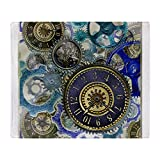 CafePress - Psychedelic Vintage Steampunk Clockwork Throw Blan - Soft Fleece Throw Blanket, 50''x60'' Stadium Blanket