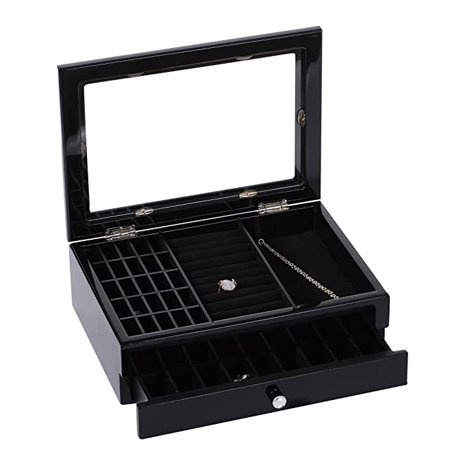 Amazon.com: ikee diseño joyas y accesorios de madera caja de ...